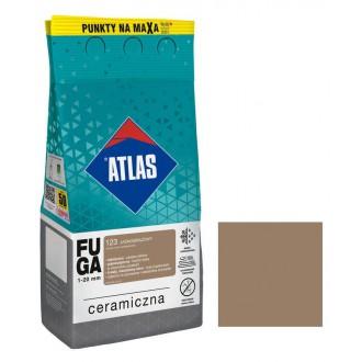 Fuga ceramiczna 123 jasnobrązowy, 5kg ATLAS
