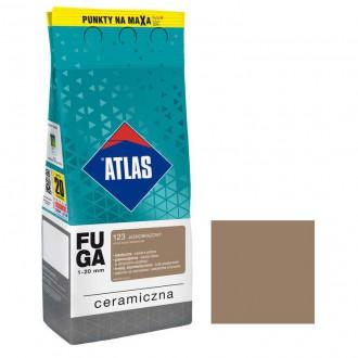 Fuga ceramiczna 123 jasnobrązowy, 2kg ATLAS