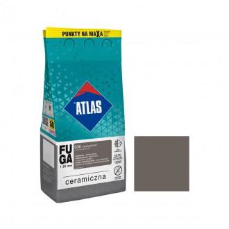 Fuga ceramiczna 036 ciemnoszary, 5kg ATLAS
