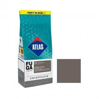 Fuga ceramiczna 036 ciemnoszary, 2kg ATLAS