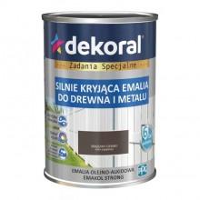 Dekoral Emakol Strong brązowy ciemny mat 0,9l