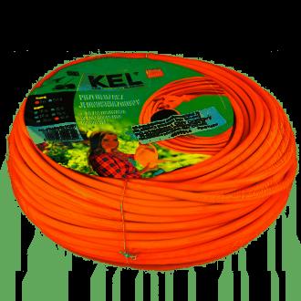 KEL Przedłużacz ogrodowy 40m pomarańczowy