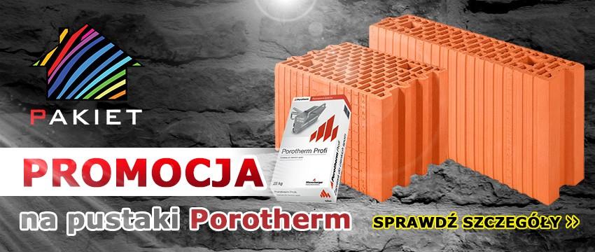 Promocja na pustawki Porotherm
